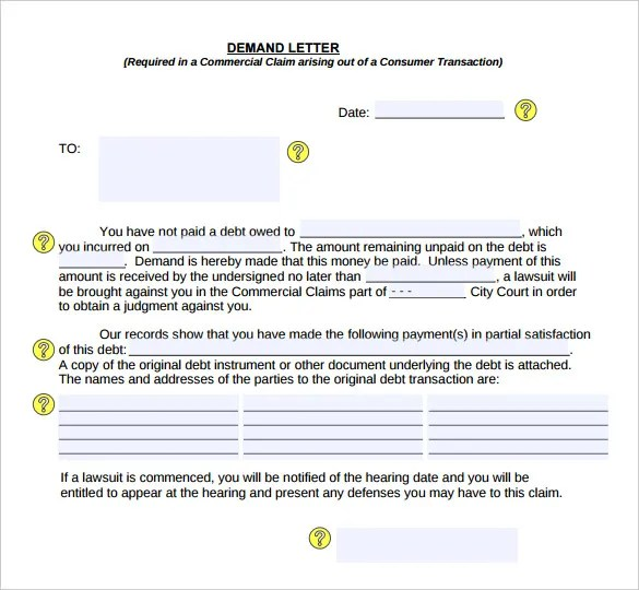 Past Due Letter 60 Days Collections Letter Sample Demand Letter Templates – 15 Free Word Pdf Documents