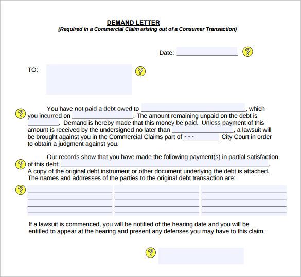 free demand letter - Boatjeremyeaton - demand letter