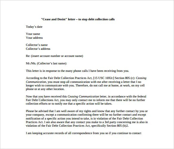 Cease and Desist Letter Template \u2013 8+ Free Word, PDF Documents - cease and desist letter template