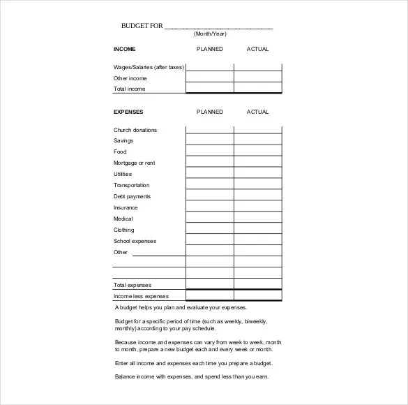 9+ Budget Tracker Templates \u2013 Free Sample, Example, Format Download