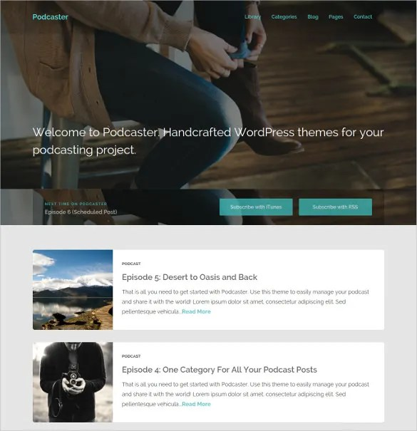 17+ Podcast WordPress Themes  Templates Free  Premium Templates - podcast website template