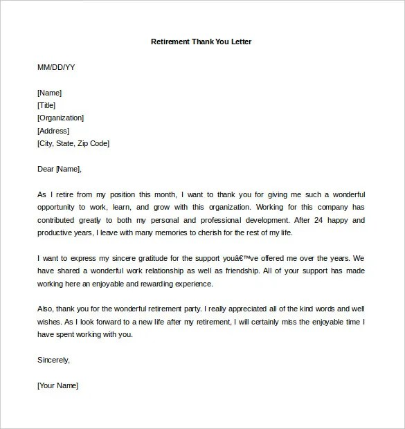 Retirement Letter Template u2013 10+ Free Word, PDF Documents Download - retirement letters