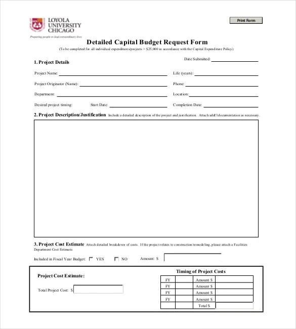 Expenditure Budget Template \u2013 8+ Free Word, Excel, PDF Documents