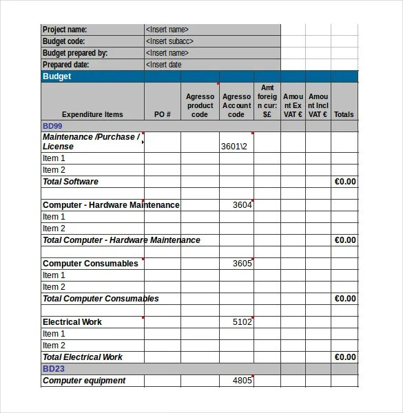 Sample Budget Form Budget Forms In Pdf Budget Request Form Sample - Sample Budget Sheet