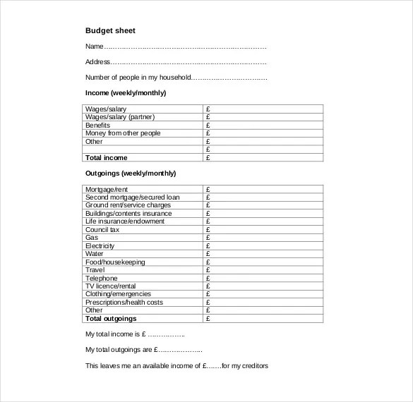 Budget Request Form