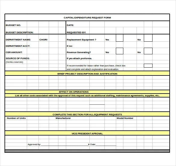 8+ Capital Expenditure Budget Templates - Free Sample, Example