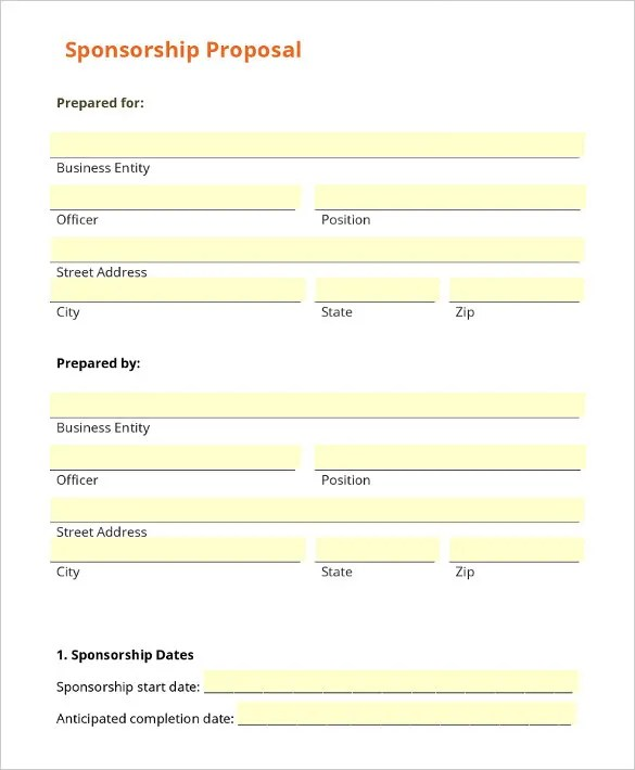 Sponsorship Letter Template \u2013 8+ Free Word, PDF Documents Download - Athlete Sponsorship Proposal Template