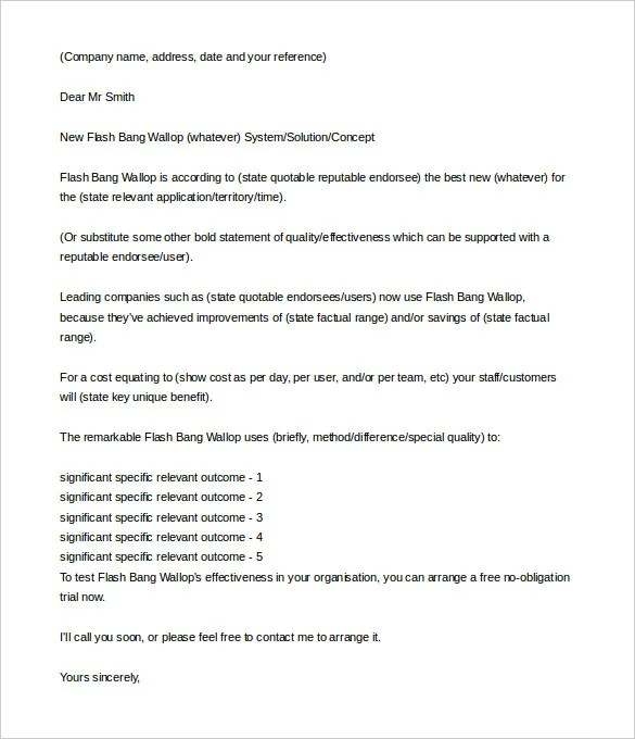 10+ Sales Letter Templates - Free Sample, Example Format Download - product sales letter sample