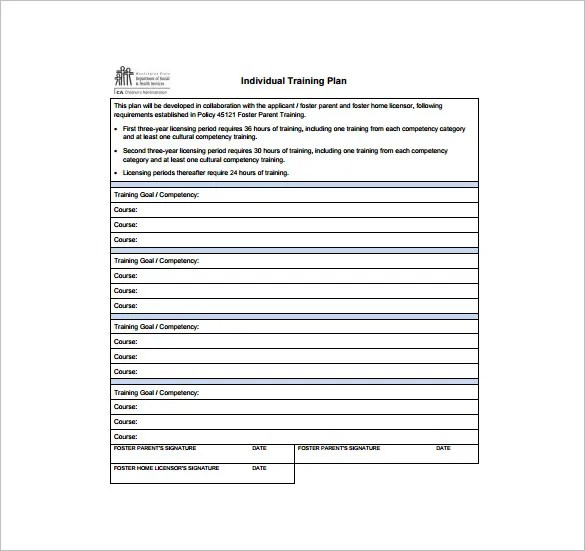 Training Plan Template - 9+ Word, PDF Documents Download Free - free training templates