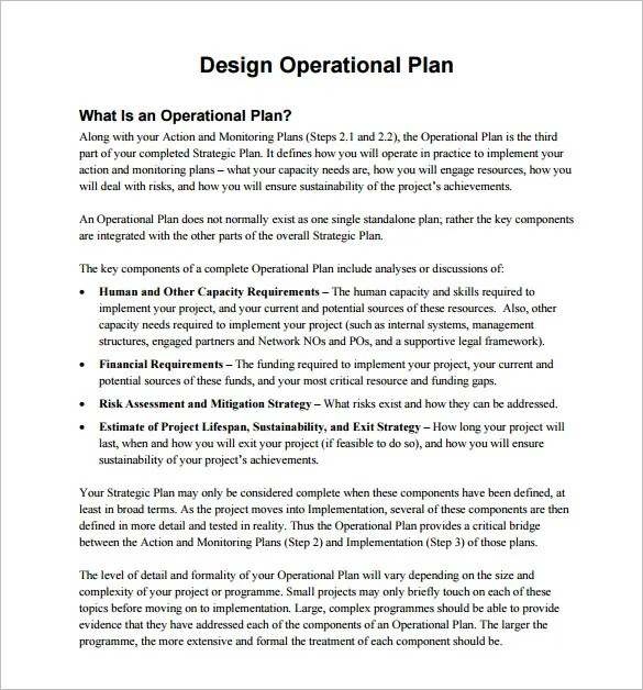 20+ Operational Plan Templates - Free Sample, Example, Format - Operational Plan Template