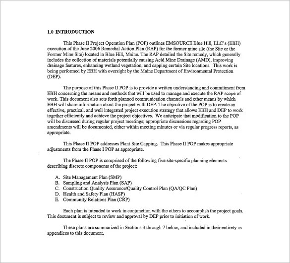 Operational Plan Template - 5 Free Word, PDF Documents Download - project plan templates word