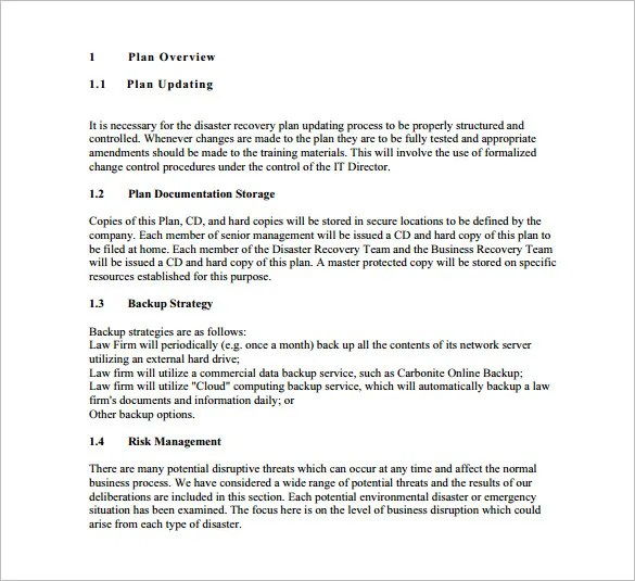 Disaster Recovery, Disaster Recovery Plan Free  Premium Templates