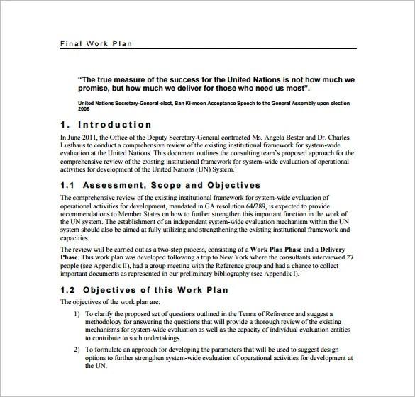 19+ Work Plan Templates - Free Sample, Example, Format Download
