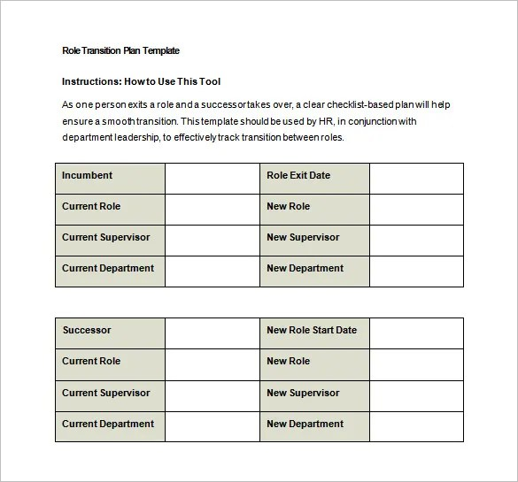 Transition Plan Template - 7+ Free Word, Excel, PDF Documents - transition plan template