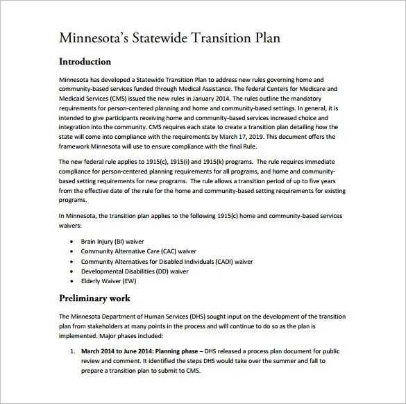 11+ Transition Plan Templates u2013 Free Sample, Example, Format - transition plan template