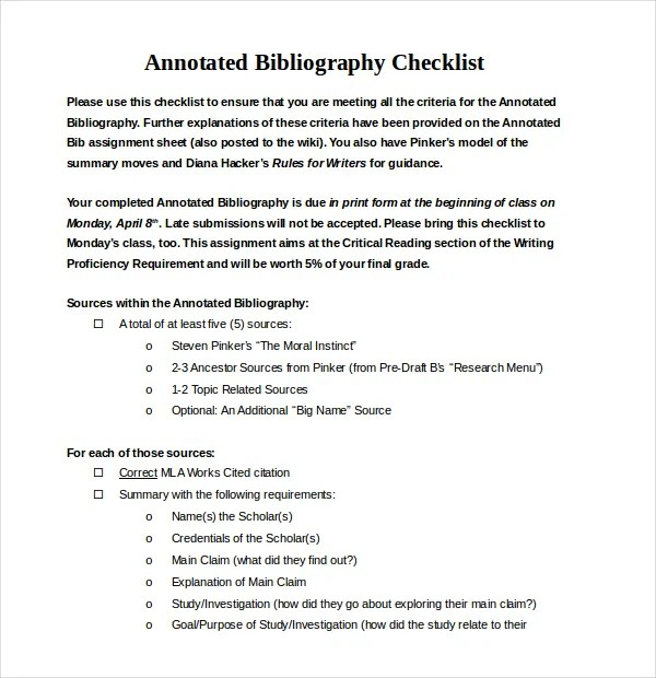 Annotated Bibliography Generator Template - 16+ Examples in PDF - Mla Work Cited Book