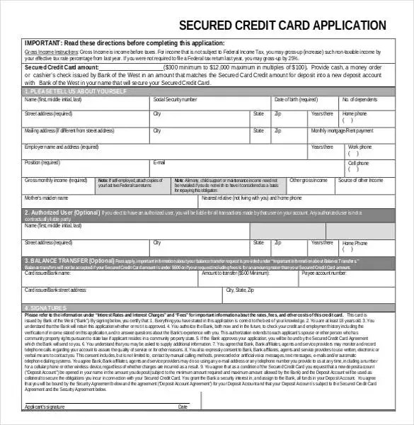 Personal Loan Application Checklist Westpac Credit Application Template 32 Examples In Pdf Word