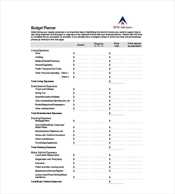 7+ Yearly Budget Plan Templates - Word, PDF, Excel Free  Premium