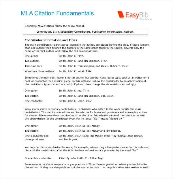 mla template in word