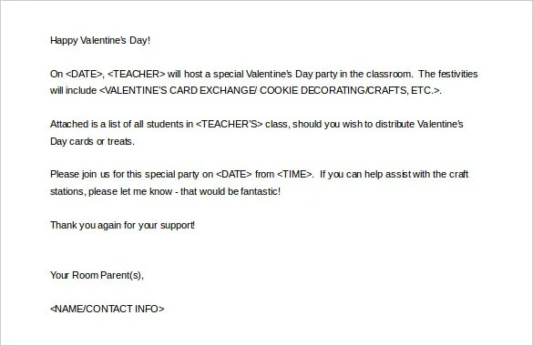 Parent Letter Template \u2013 10+ Free Word, PDF Documents Download