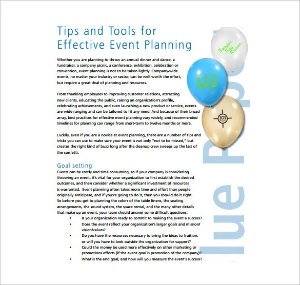 Event Planning Template - 5 Free Word, PDF Documents Download - free event planner template
