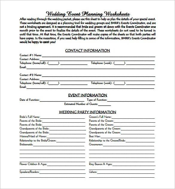 11+ Event Planning Templates \u2013 Free Sample, Example, Format Download