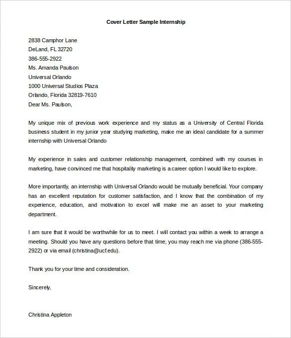 internship cover letter template hitecauto - internship cover letters