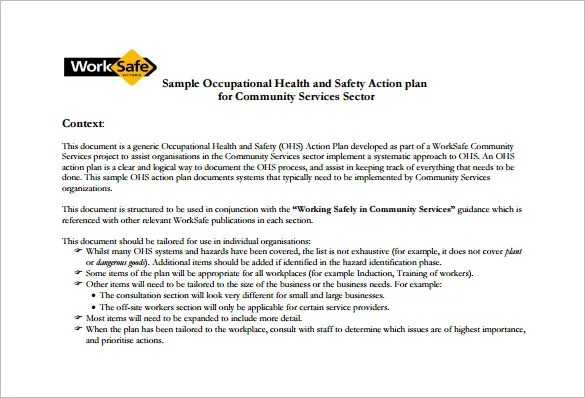 Health and Safety Plan Templates - 10+ Free Word, PDF Documents - safety plan template