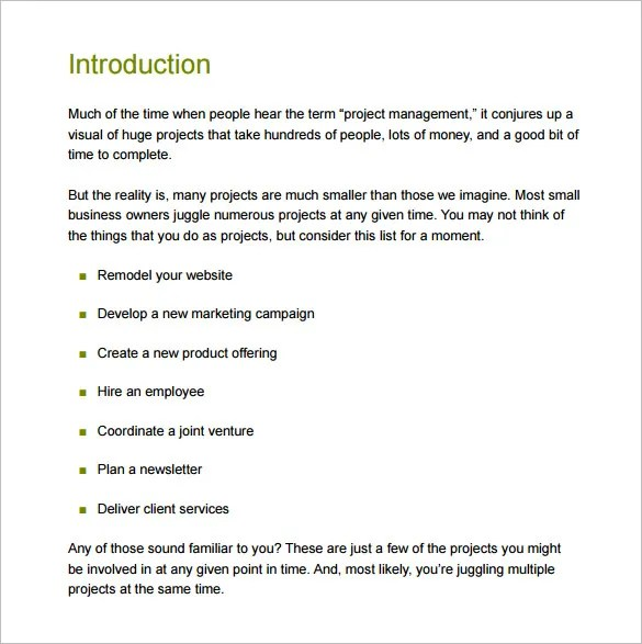 Project Management Proposal Template Get Free Sample - visualbrainsinfo - project management proposal template free