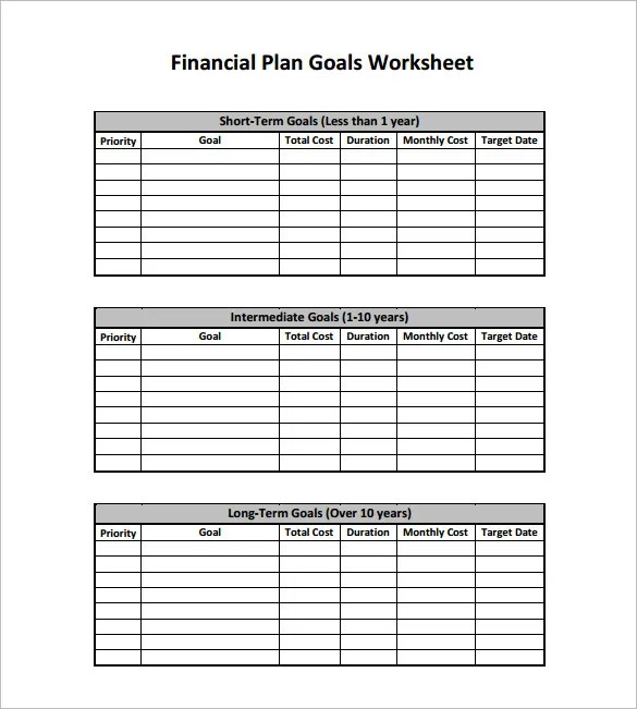 Financial Plan Templates - 10+ Free Word, Excel, PDF Documents
