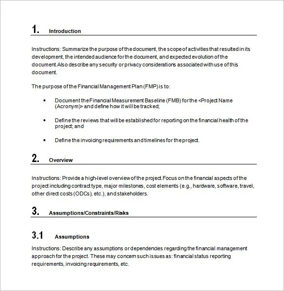 15+ Financial Plan Templates - Free Sample, Example, Format Download - financial plan template word