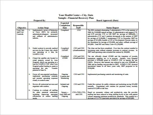 financial plan template word - Towerssconstruction