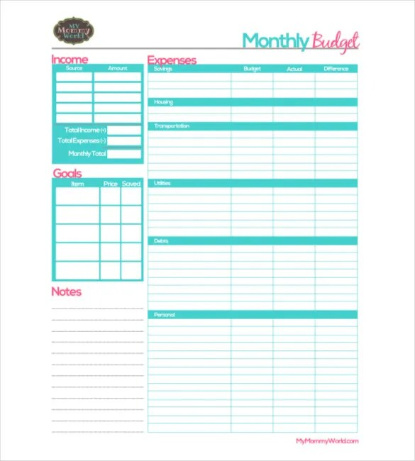 12+ Monthly Budget Templates - Word, PDF, Excel Free  Premium