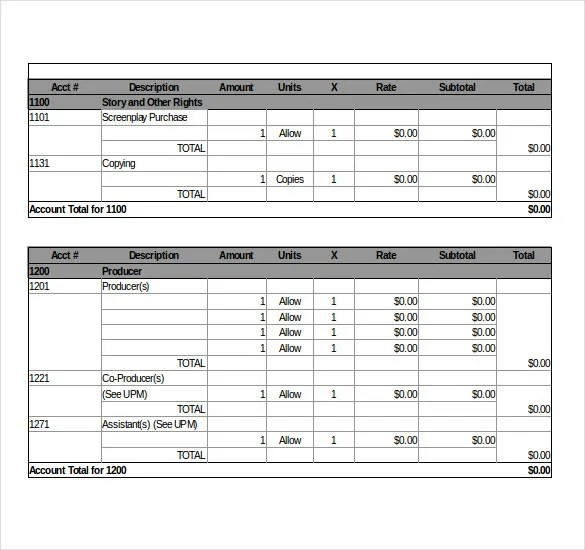 Sample Budget Summary Template Project Budget Template Smartsheet - sample budget summary template