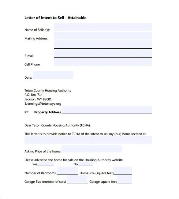 11+ Letter of Intent Templates \u2013 Free Sample Example Format Download