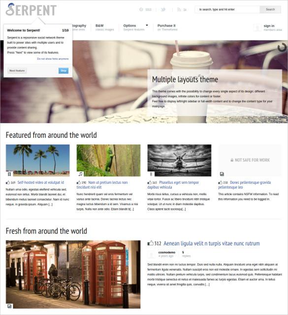 24+ Social Media Website Themes  Templates Free  Premium Templates
