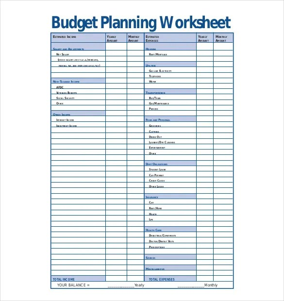 13+ Budget Planner Templates - Free Sample, Example, Format Download