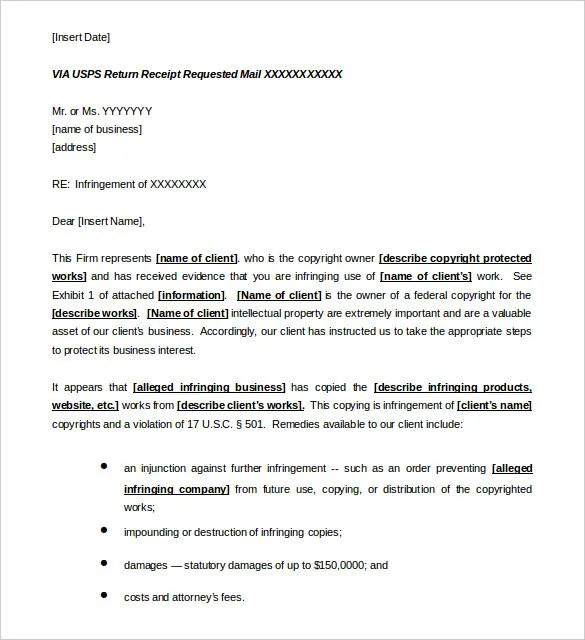 Cease and Desist Letter Template - 16+ Free Sample Example Format - cease and desist template