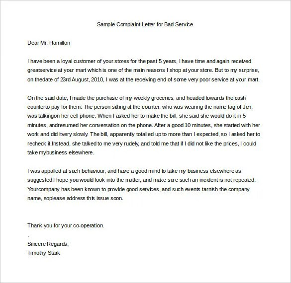 Sample Service Letter Proof Of Employment Letter Template 10 40 - example complaint letter