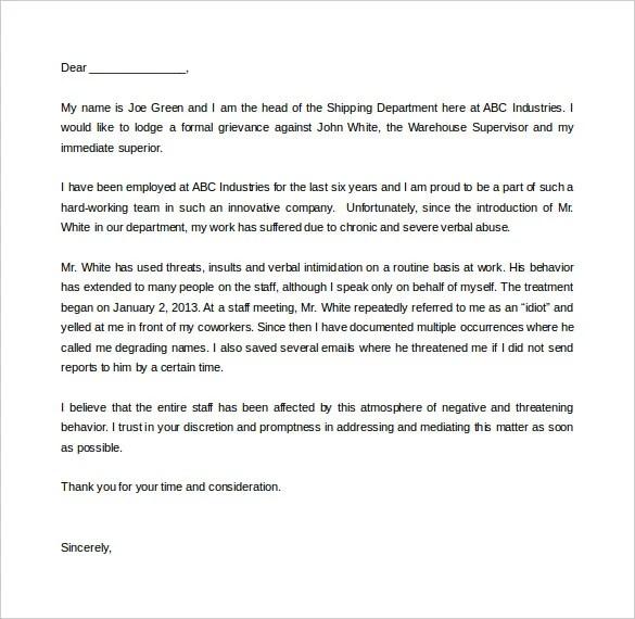 formal complaint letter template word - Maggilocustdesign