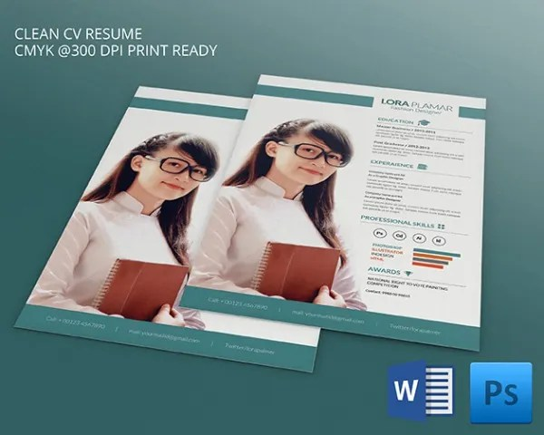 PSD Resume Template \u2013 51+ Free Samples, Examples, Format Download