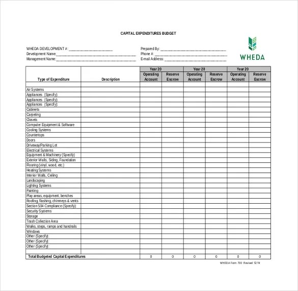 8+ Expenditure Budget Templates \u2013 Free Sample, Example, Format