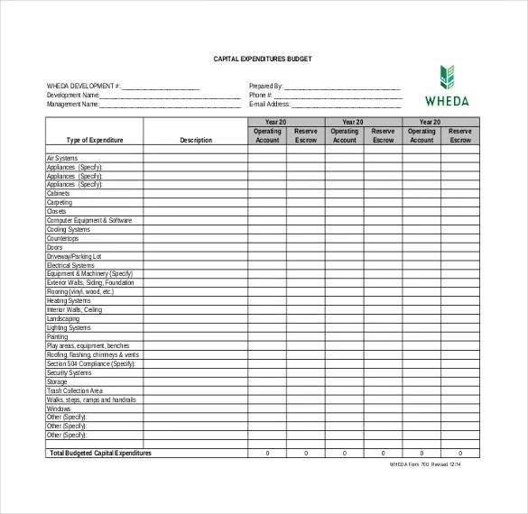 8+ Expenditure Budget Templates \u2013 Free Sample, Example, Format - Sample Budget Template