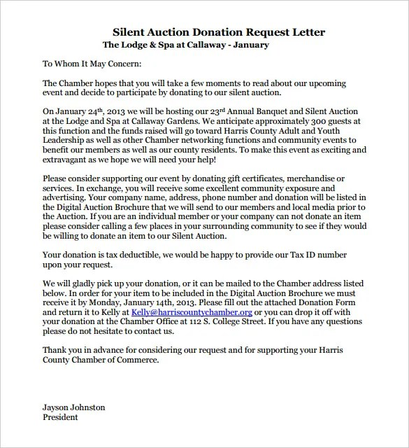 9+ Donation Letter Templates u2013 Free Sample, Example Format - donation letter example