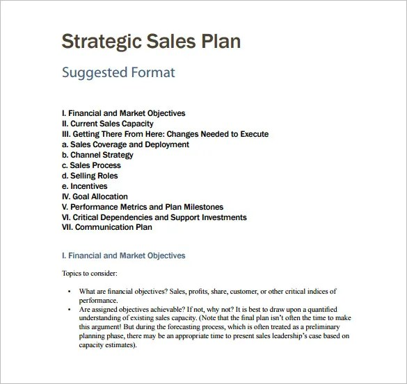 Sales Plan Template - 25+ Free Sample, Example, Format Free - sales plan format