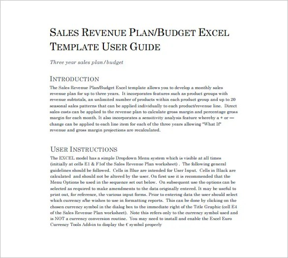 Sales Plan Templates - 21+ Free Sample, Example, Format Free - how to write a sales plan template
