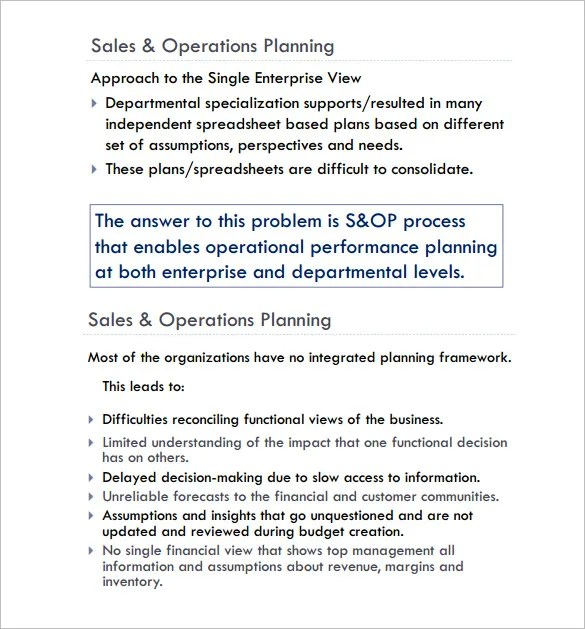 Operating Plan Template  NodeCvresumePaasproviderCom