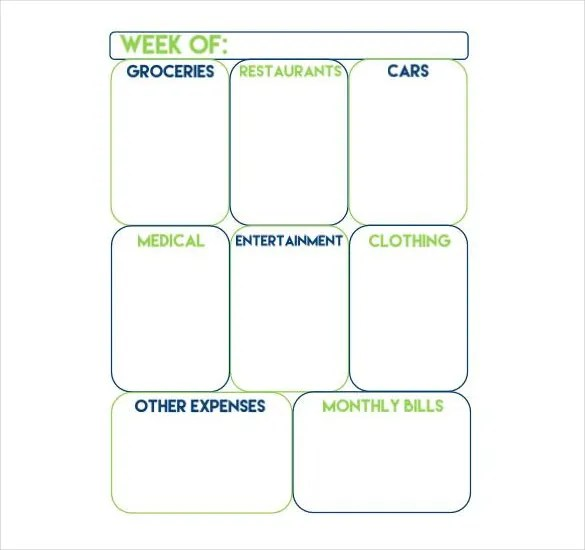 10+ Weekly Budget Templates \u2013 Free Sample, Example, Format Download - sample weekly budget