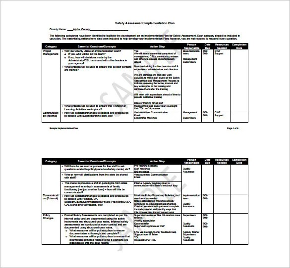 12+ Implementation Plan Templates \u2013 Free Sample, Example, Format - implementation plan templates