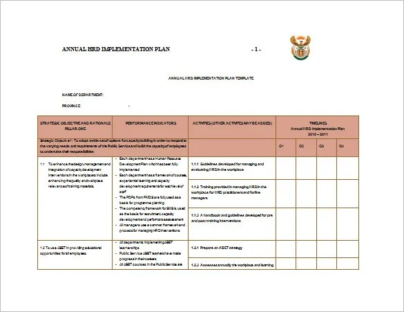 12+ Implementation Plan Templates u2013 Free Sample, Example, Format - implementation plan template